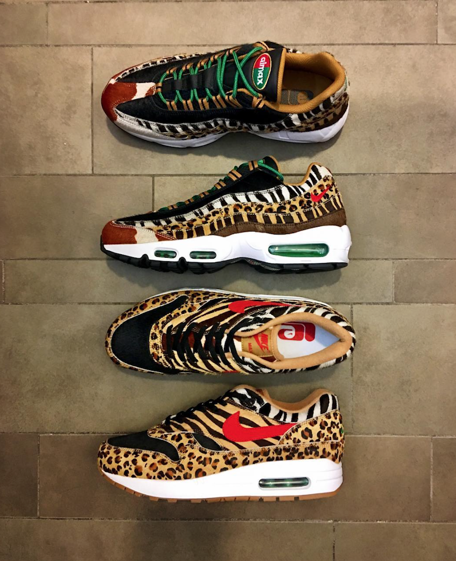 super popular cba92 b4202 atmos Nike Air Max 1 Air Max 95 Animal Pack 2 Release Date