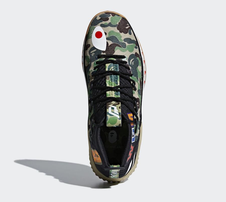 BAPE adidas Dame 4 Green Camo AP9974 Release Info