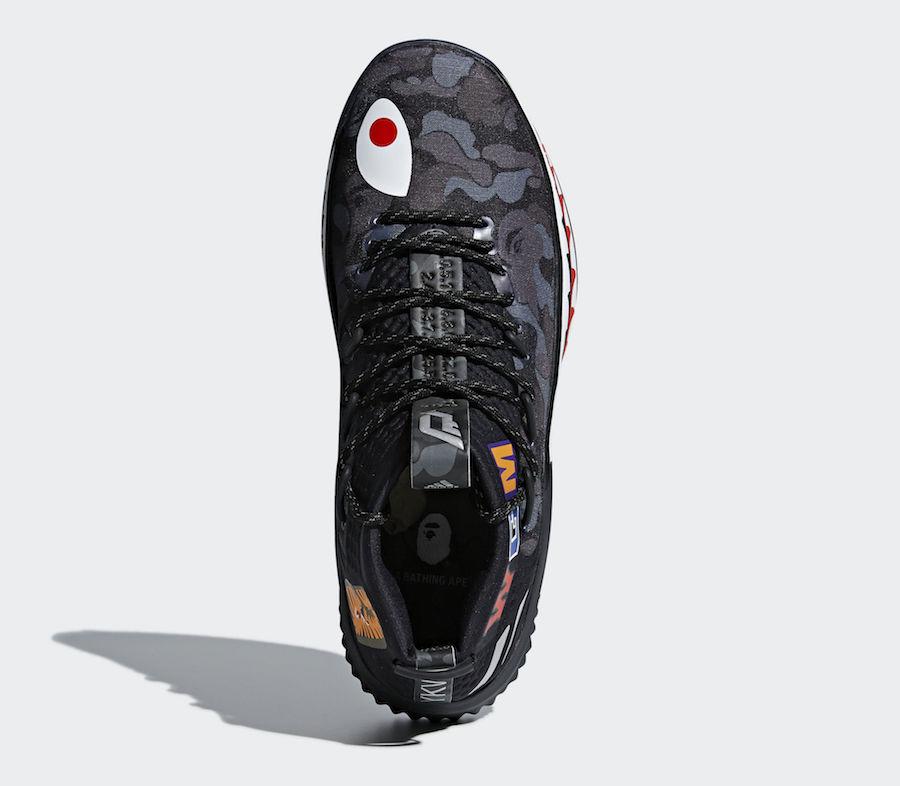 BAPE adidas Dame 4 Black Camo AP9975 Release Info