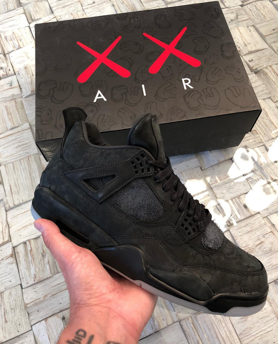 Buy KAWS Air Jordan 4 Black