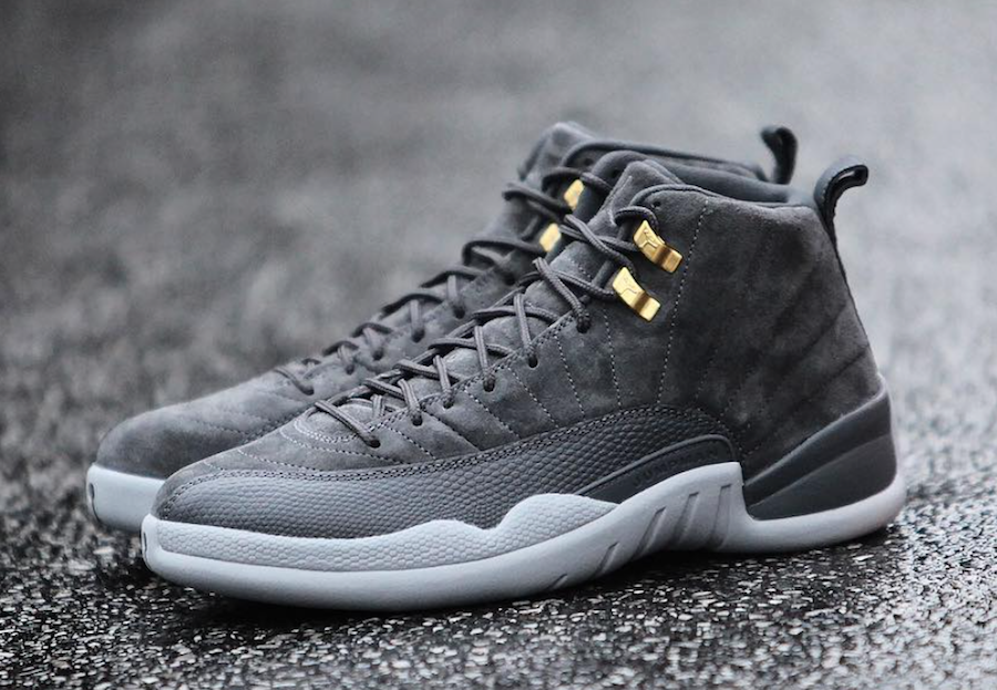 fb4ad46560f8ad Air Jordan 12 Dark Grey 130690-005 Release Date