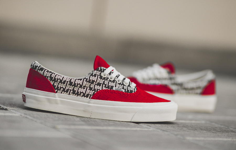 Fear of God Vans Era Red Collection