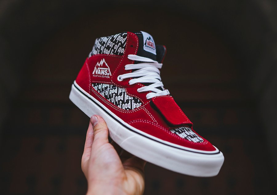 Fear of God Vans Mountain Edition Red