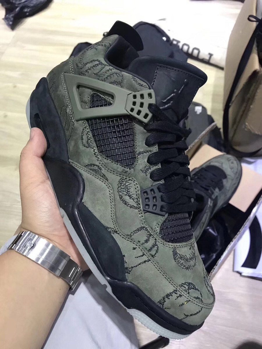 KAWS Air Jordan 4 Olive