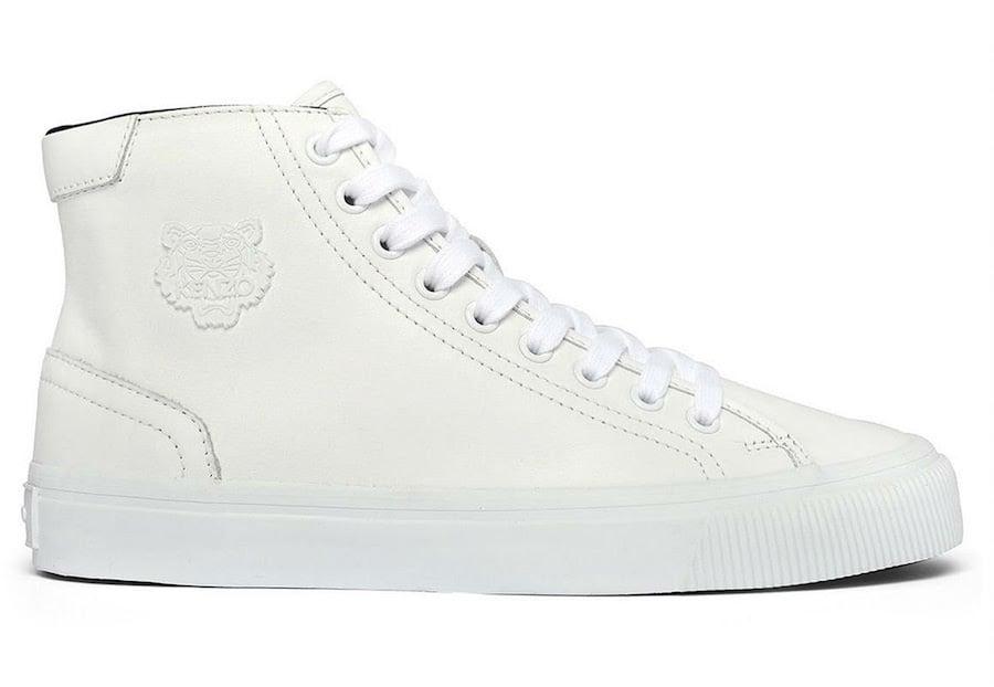 Kenzo White High Top Sneakers