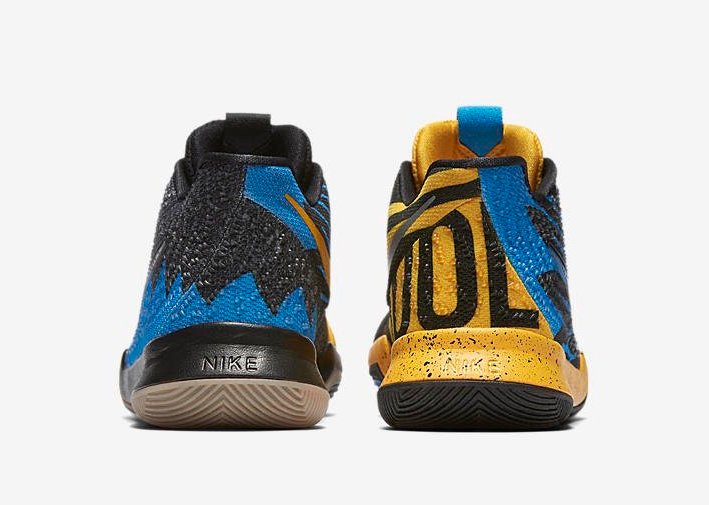 Kids Nike Kyrie 3 What The Yellow Gold Blue Black
