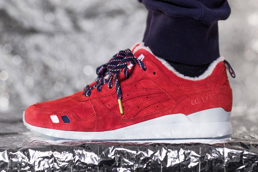KITH Moncler Asics Gel Lyte III Red