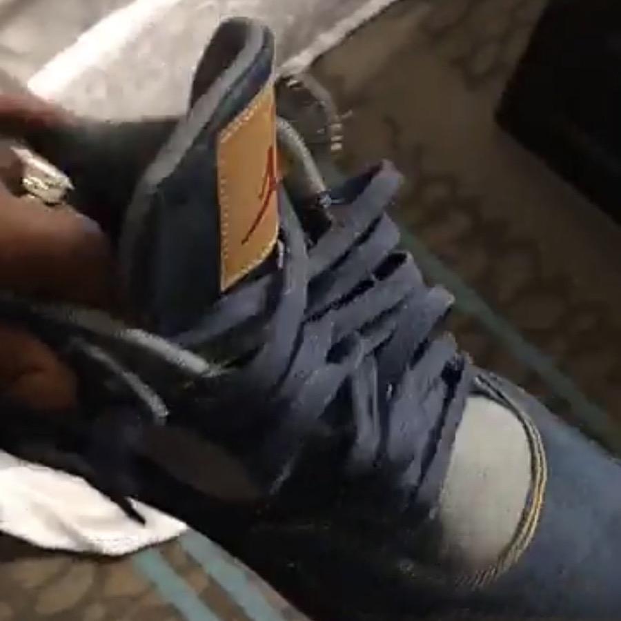 Levis Air Jordan 4 Denim Leak