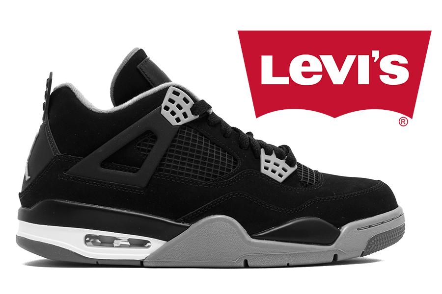 Levi's x Air Jordan 4 Collaboration Releasing 2018 in Three Colorways