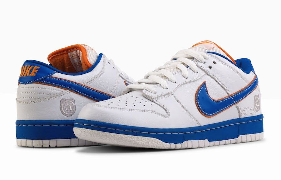 Medicom Toy Nike SB Dunk White Blue Orange