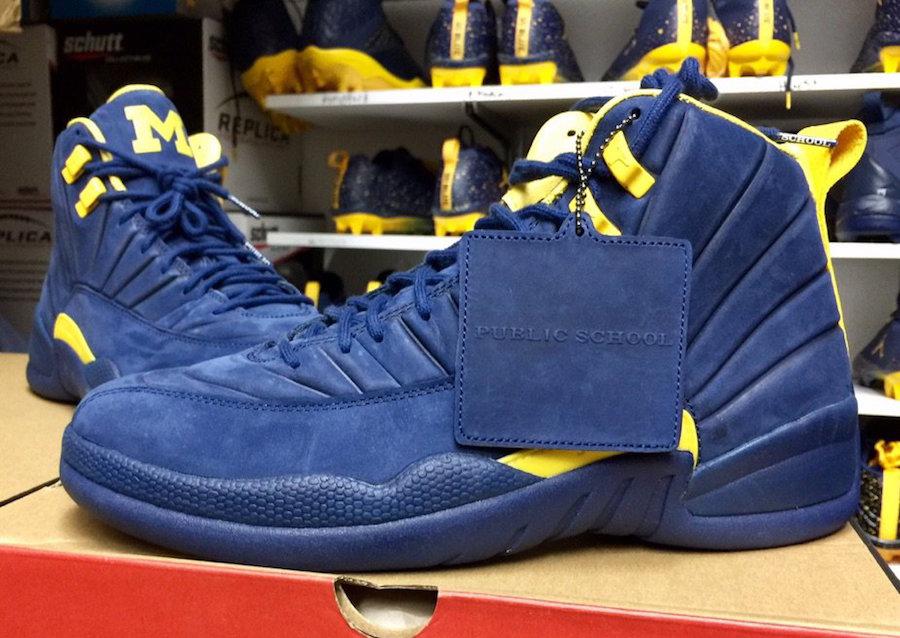 lowest price 21b5a 27ac6 Michigan PSNY Air Jordan 12 PE | SneakerFiles