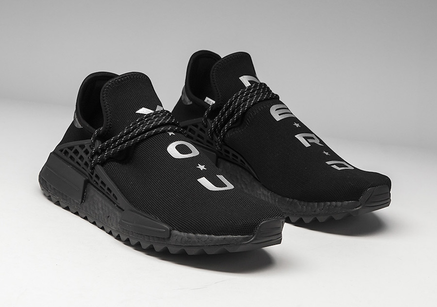 purchase cheap 76b40 99c71 Pharrell adidas NMD Hu NERD Black Release Date | SneakerFiles
