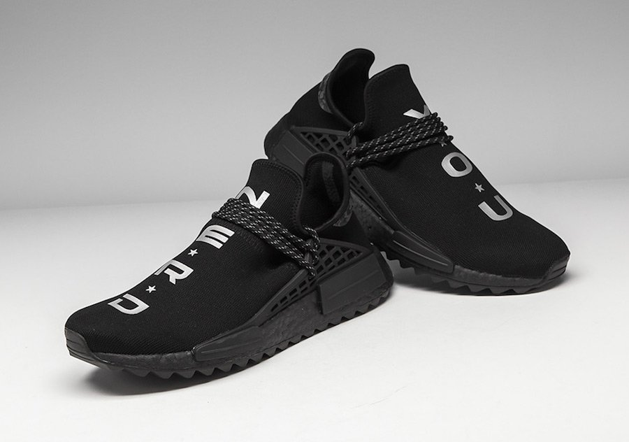 purchase cheap c737f 89e60 Pharrell adidas NMD Hu NERD Black Release Date | SneakerFiles