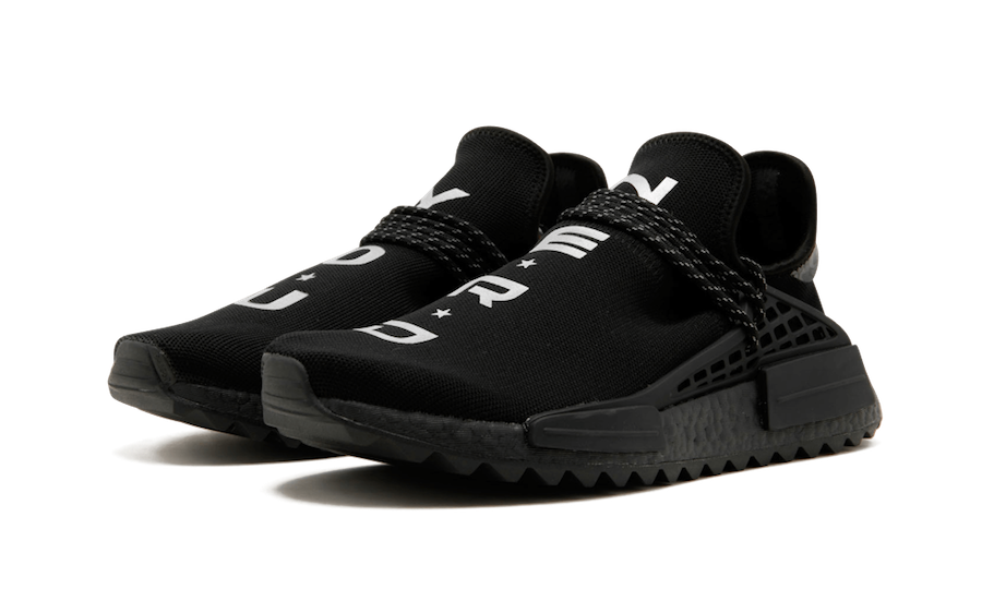purchase cheap a1130 53114 Pharrell adidas NMD Hu NERD Black Release Date | SneakerFiles