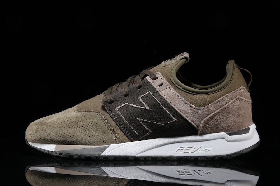 New Balance 247 Luxe Suede Olive