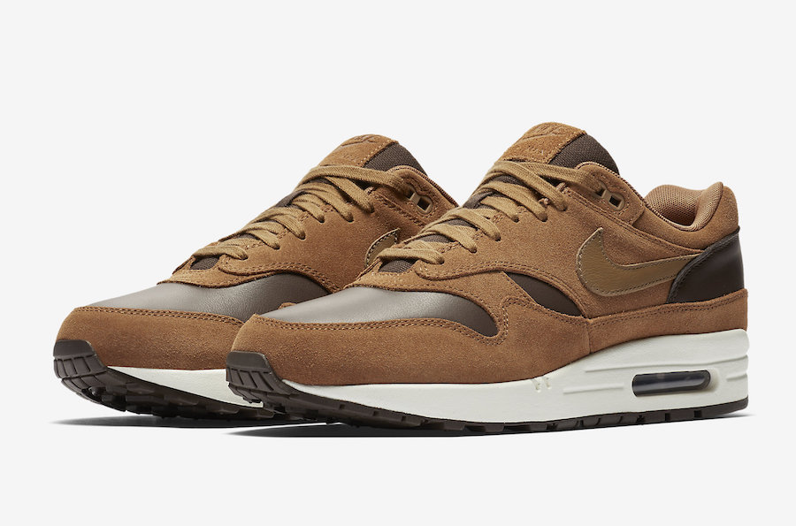 Nike Air Max 1 Leather Premium AH9902 200 Ale BrownGolden