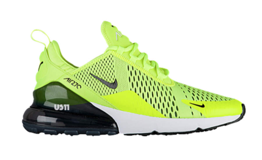 Nike Air Max 270 Volt Black Blue Orange Sneakerfiles