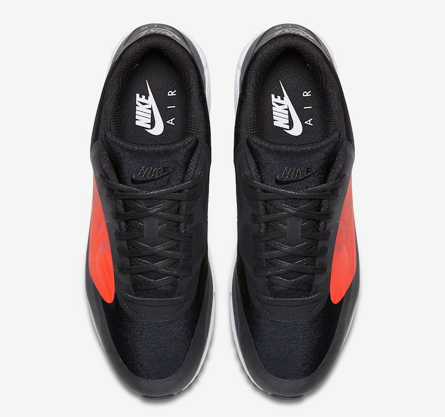 Nike Air Max 90 Big Logo Black Bright Crimson AJ7182-003