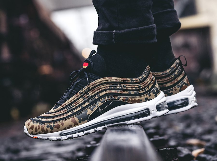 Nike Air Max 97 German Camo On Feet