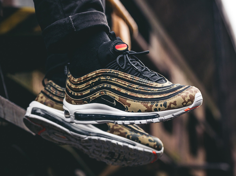 online store 5d6d9 378f1 Nike Air Max 97 German Camo On Feet