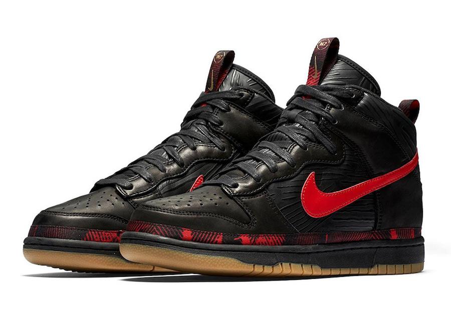 Nike Dunk High N7 Black Red