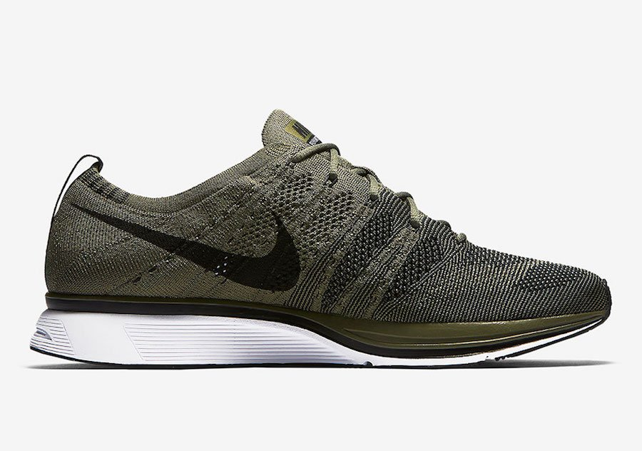 ce88335f1a79f Nike Flyknit Trainer Olive AH8396-200 Release Date