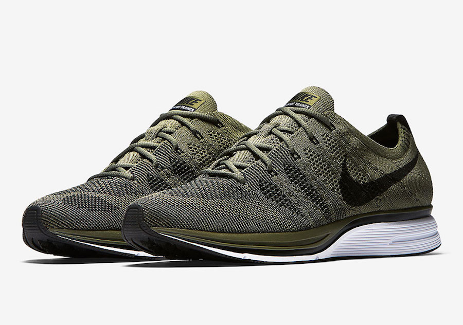 89e8309bc7ca2 Nike Flyknit Trainer Olive AH8396-200 Release Date