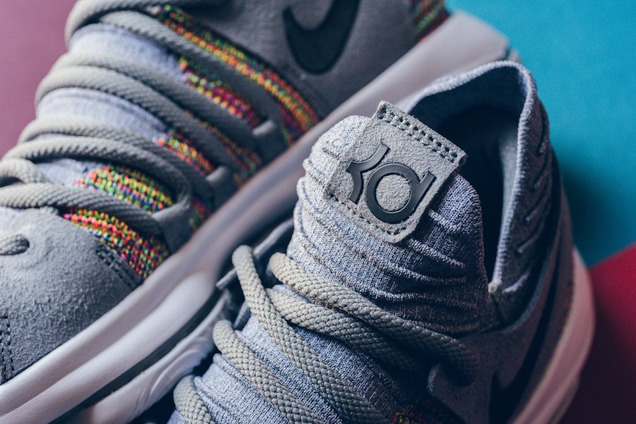 Nike KD 10 Multicolor Black Cool Grey White 897815-900