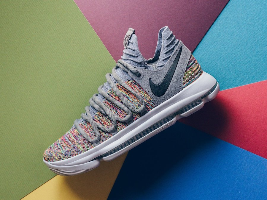 e6e9471e40df Nike KD 10 Multicolor Black Cool Grey White 897815-900