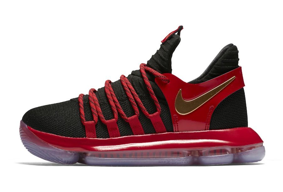 Nike KD 10 University Red Metallic Gold