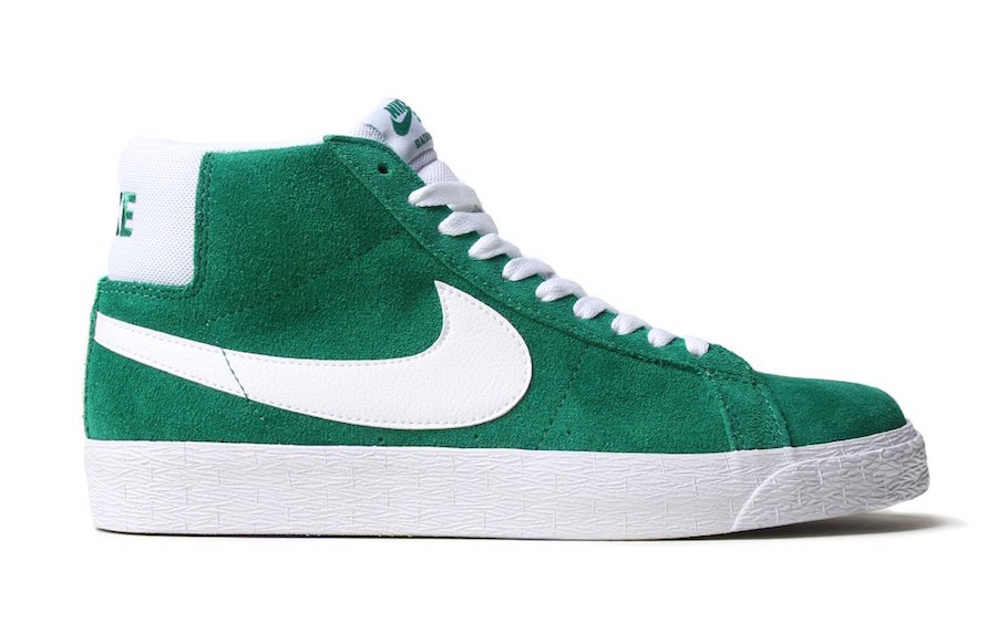 Nike SB Blazer Pine Green University Red