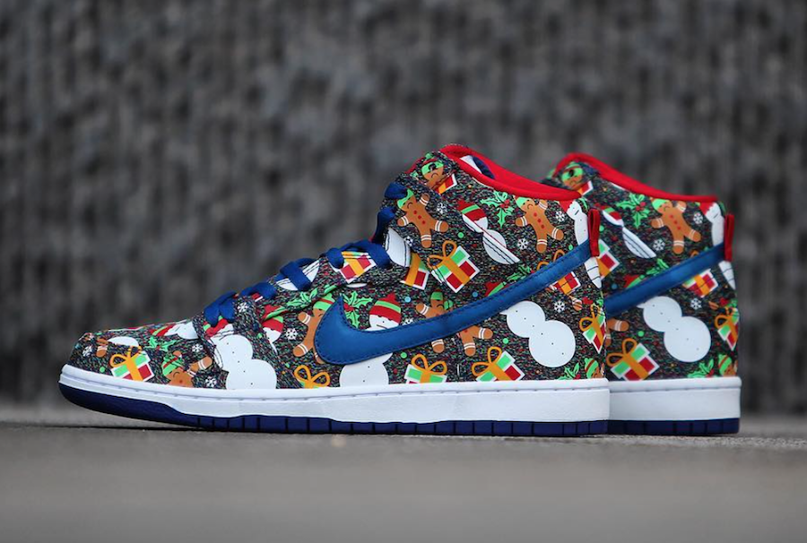 ... Nike SB Dunk High Ugly Christmas Sweater Concepts 2017 ...
