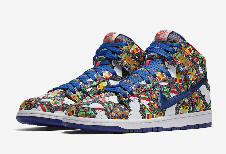 Concepts x Nike SB Dunk High 'Ugly Christmas Sweater' Official Images