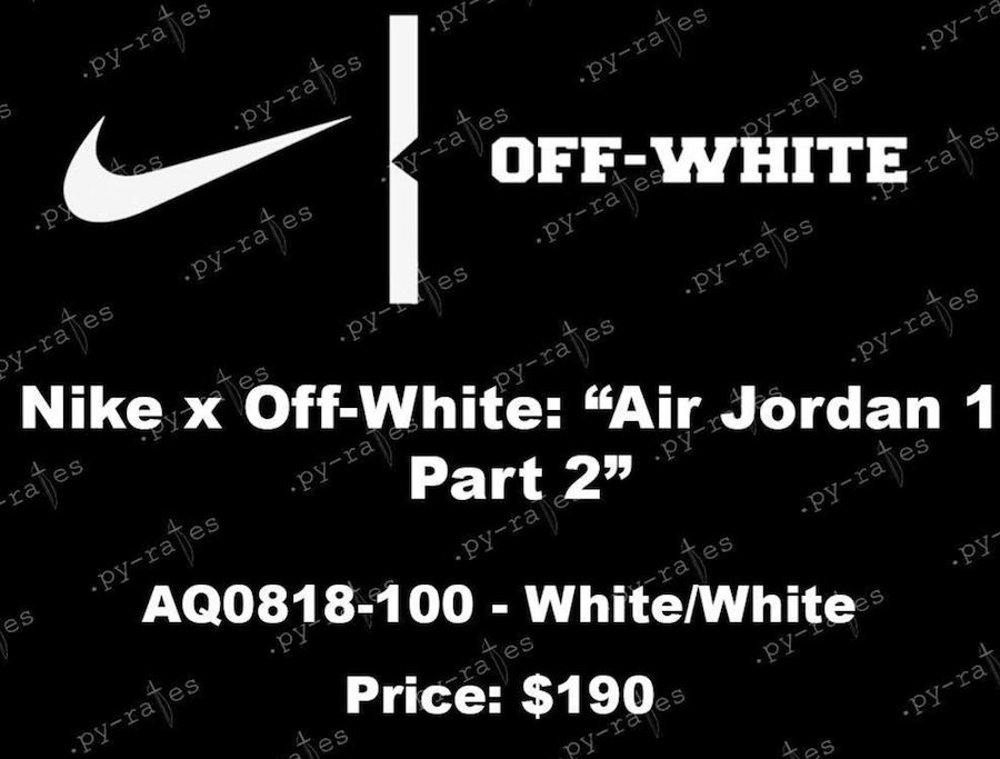 Off-White Air Jordan 1 2018
