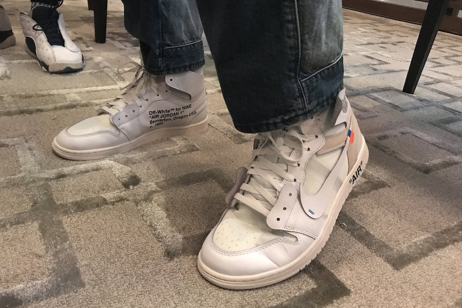 First Look: Off-White x Air Jordan 1 in White for 2018