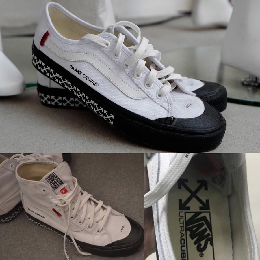 Off-White Vans Blank Canvas