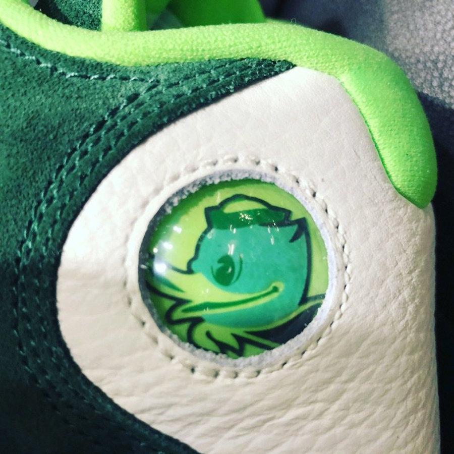 Oregon Ducks Air Jordan 13 Green