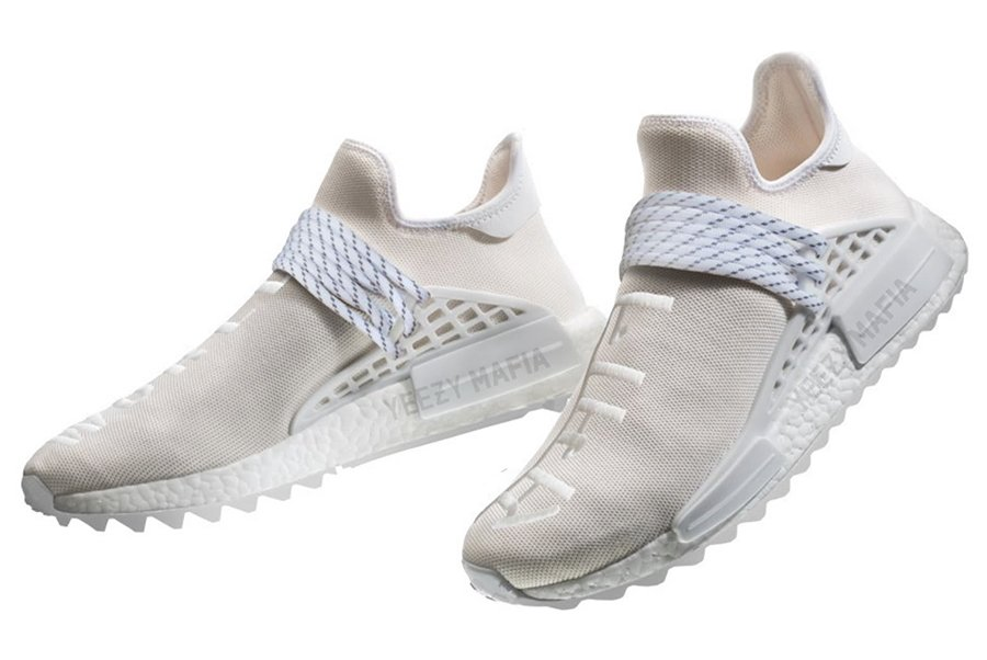 Pharrell adidas NMD Hu Trail Blank Canvas White AC7031