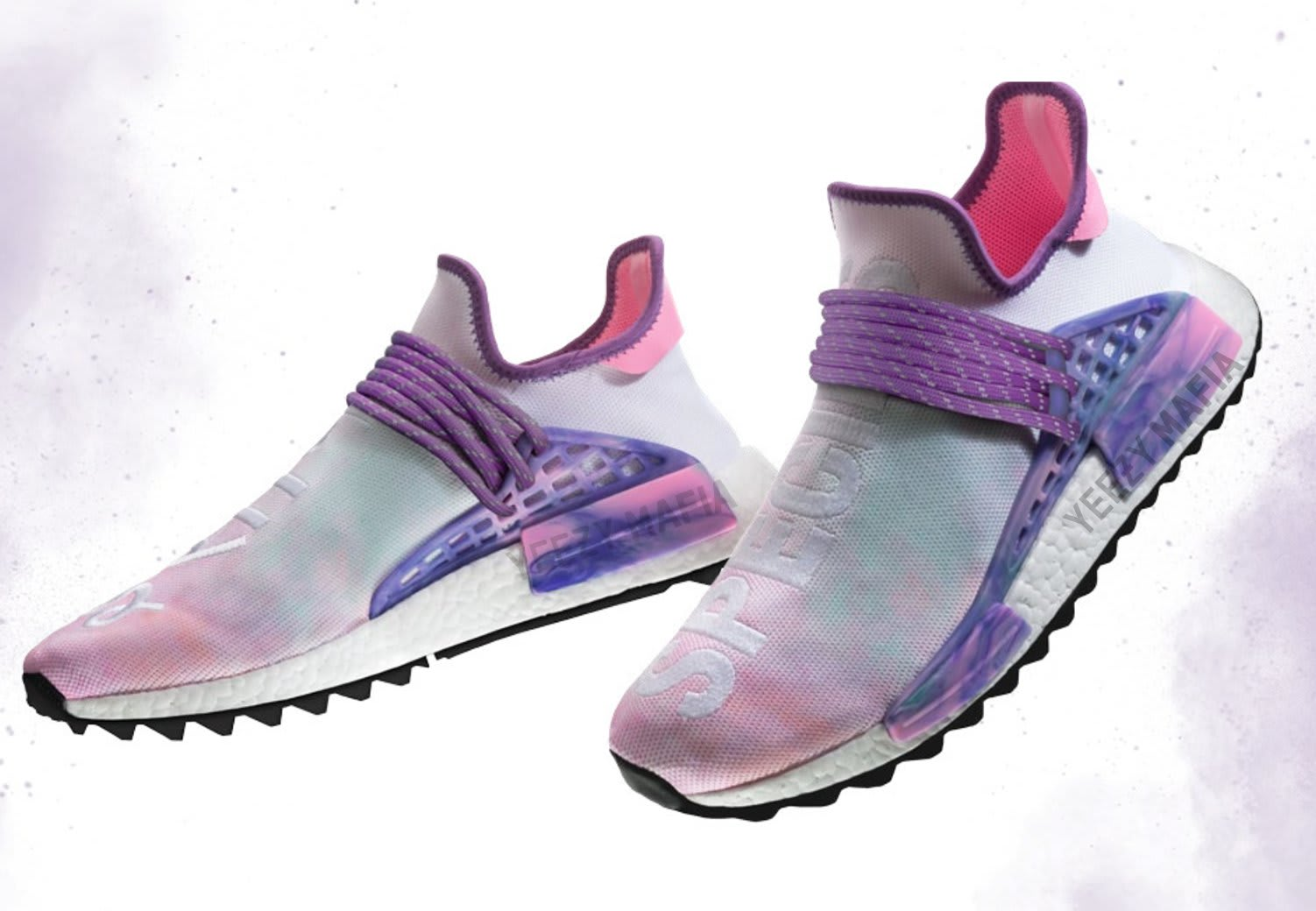 Pharrell adidas NMD Hu Trail Holi Pink Green Purple AC7362