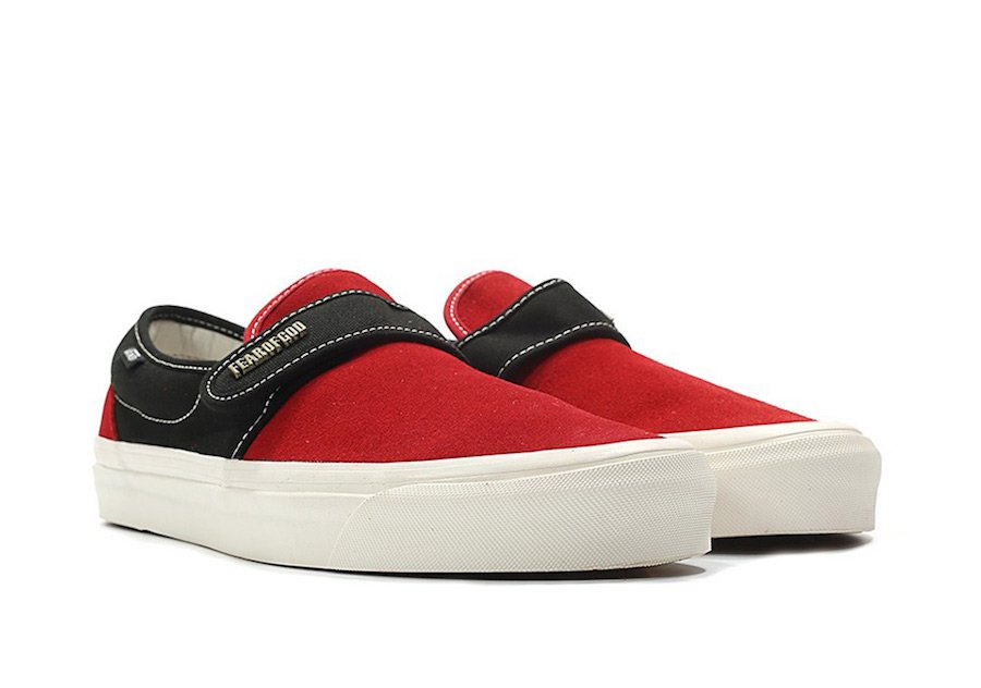 Vans Fear of God Slip-On Style 147 Black Red