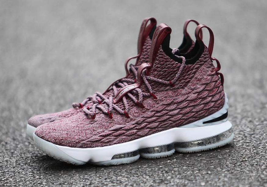 a60d1080f27 Nike LeBron 15 Wine Red Flyknit White 897649-201