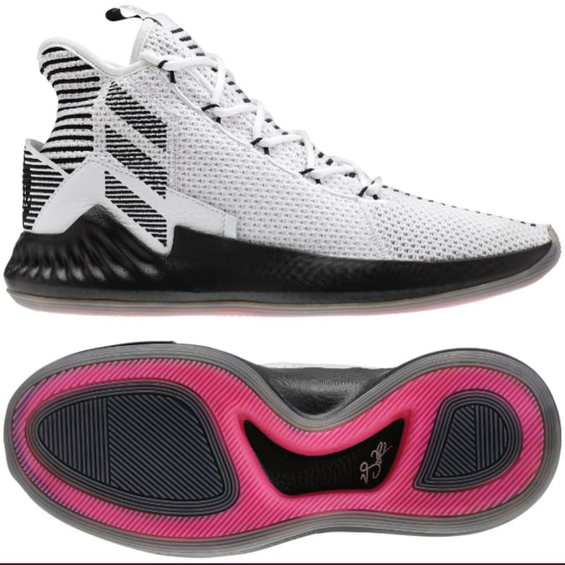 adidas D Rose 9 White Black