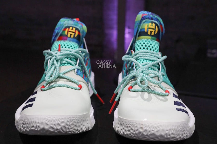 promo code eee6f 57c37 adidas Harden Vol 2 White Teal