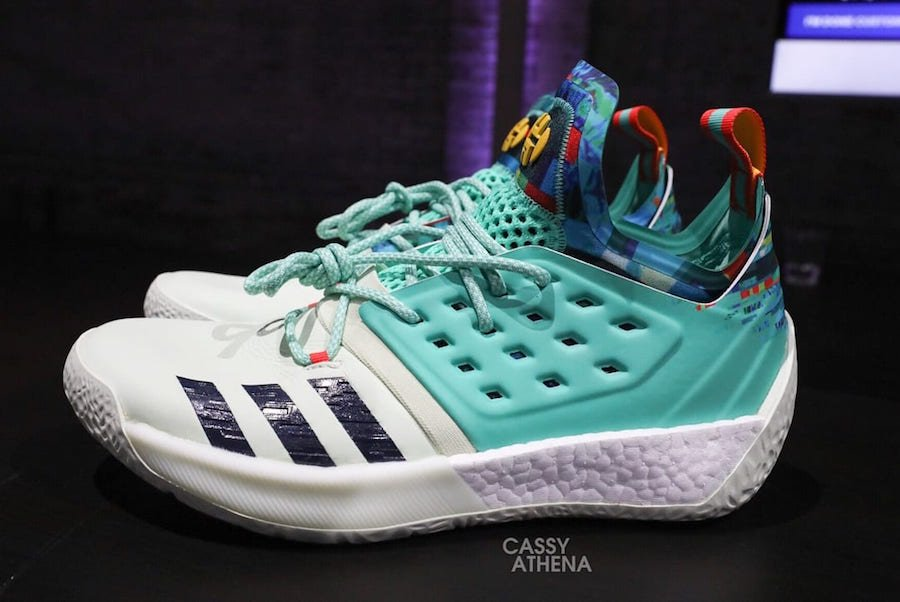 adidas Harden Vol 2 White Teal