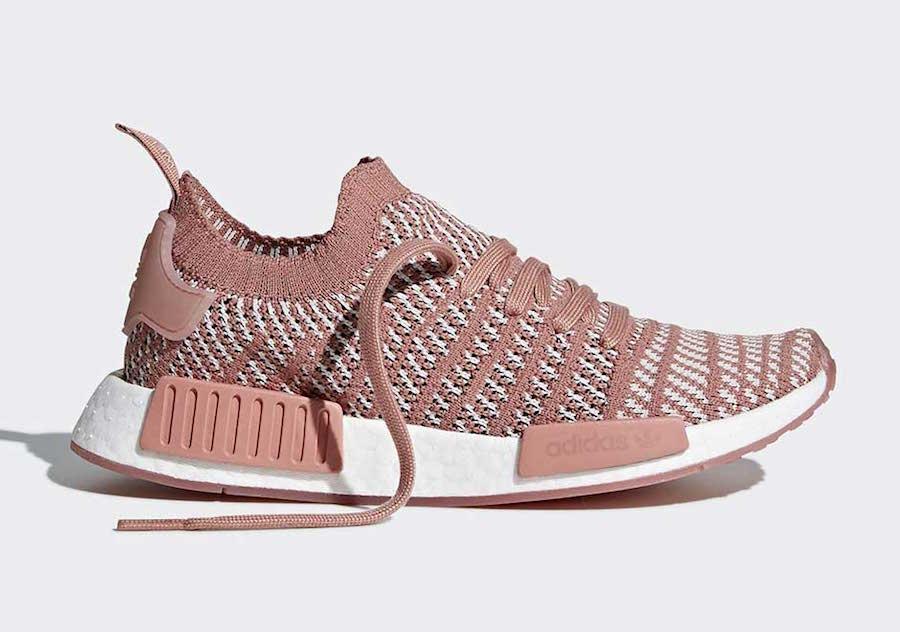 separation shoes 54c0a 699cb adidas NMD R1 Primeknit STLT Ash Pink CQ2028 | SneakerFiles