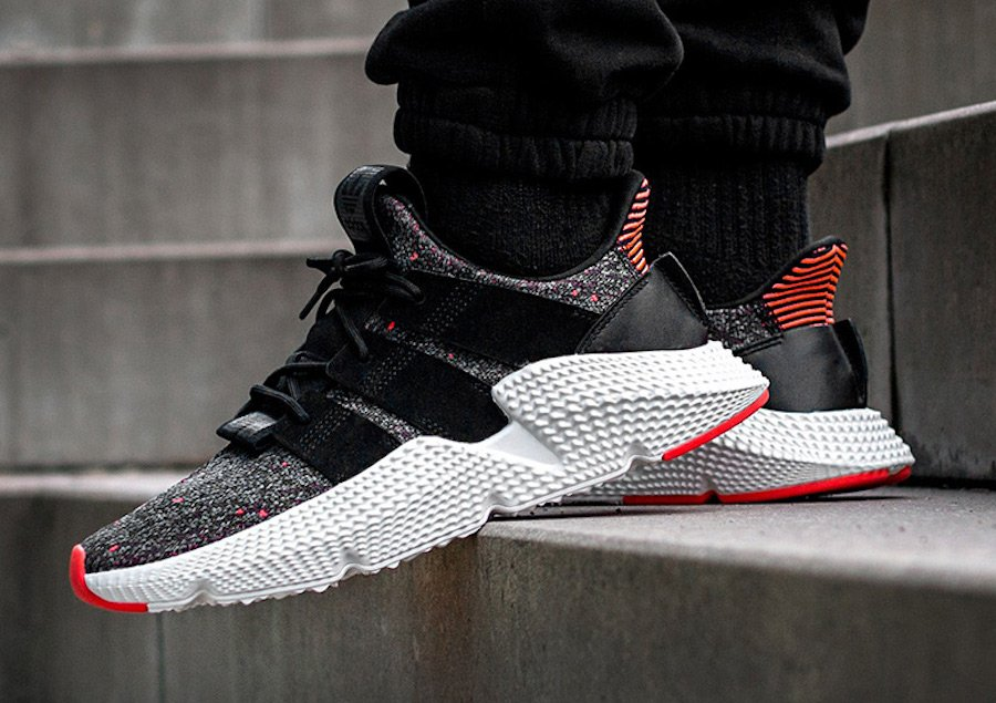 b2b8ce7c37a adidas Prophere Core Black Solar Red CQ3022