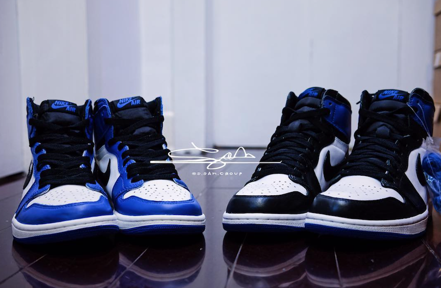 Air Jordan 1 Game Royal Fragment Comparison