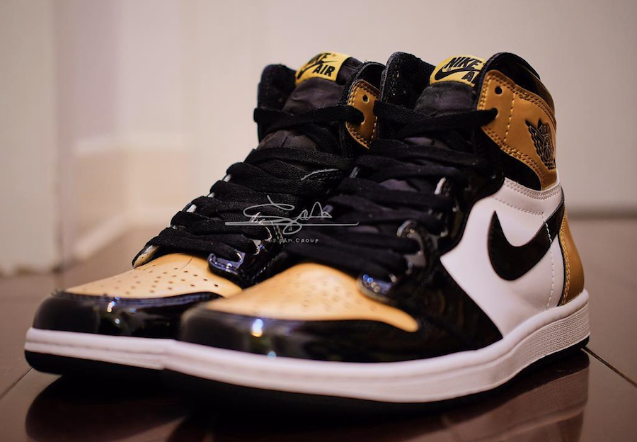 Air Jordan 1 Gold Toe AQ7474-001
