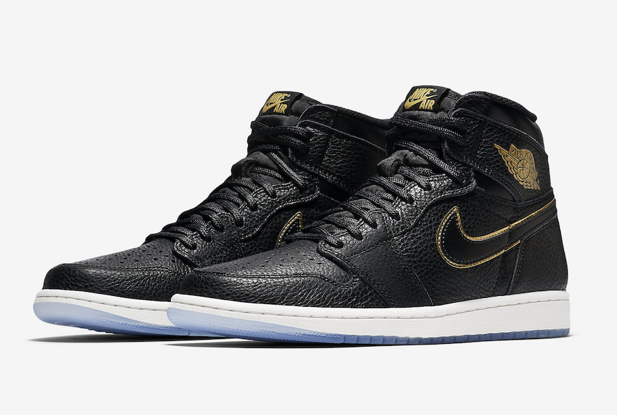 Air Jordan 1 LA Black Gold Los Angeles Official