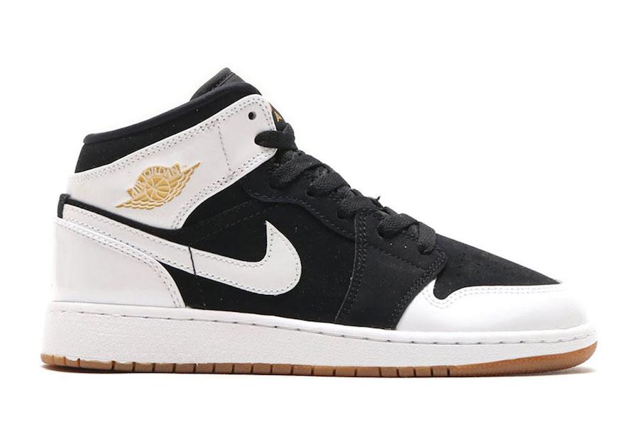 huge discount c4701 fdcee Air Jordan 1 Mid Gold Gum 555112-021